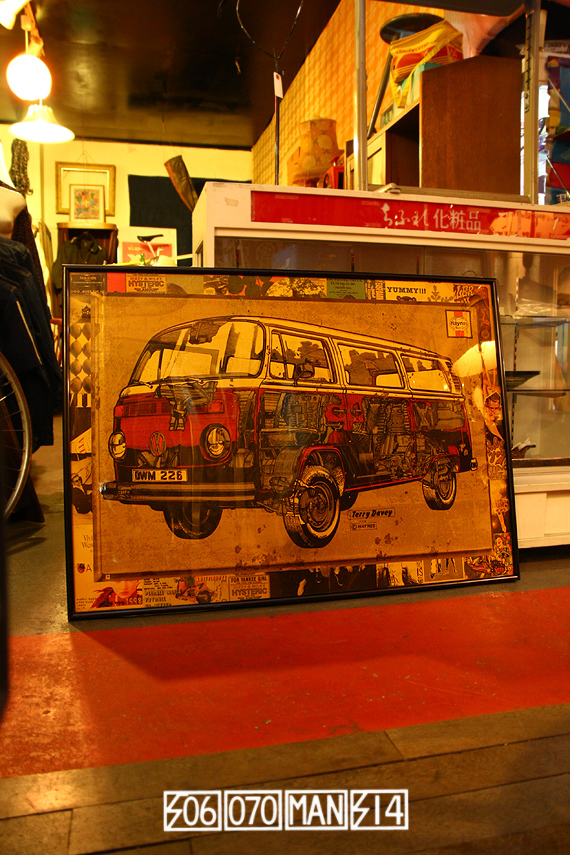 VolksWagen T2 レイトバス 額入ポスター FLAT4 空冷VW_e0243096_21591854.jpg