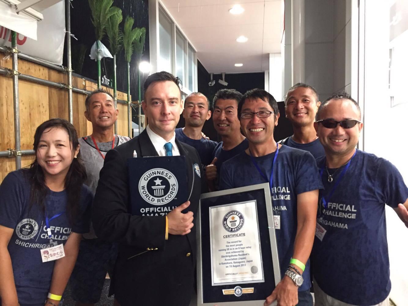 8月19日 七里ガ浜から ギネス世界記録達成致しました♪_d0108933_14462718.jpg