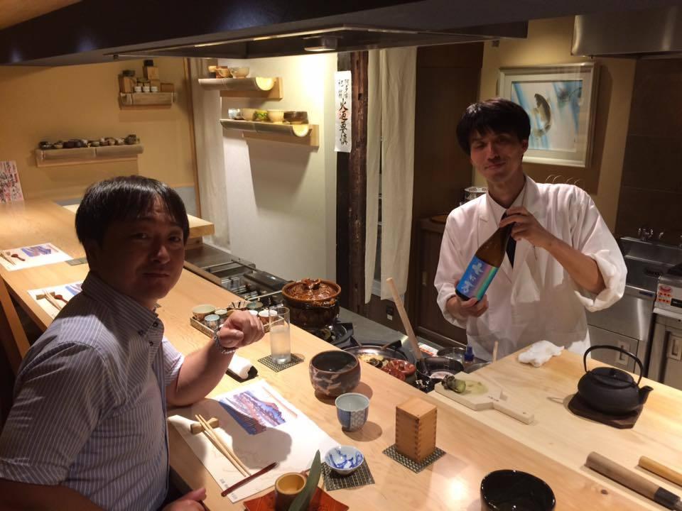 「ロ万」醸造元・花泉酒造の星さんと京都ナイト_d0367608_10522267.jpg