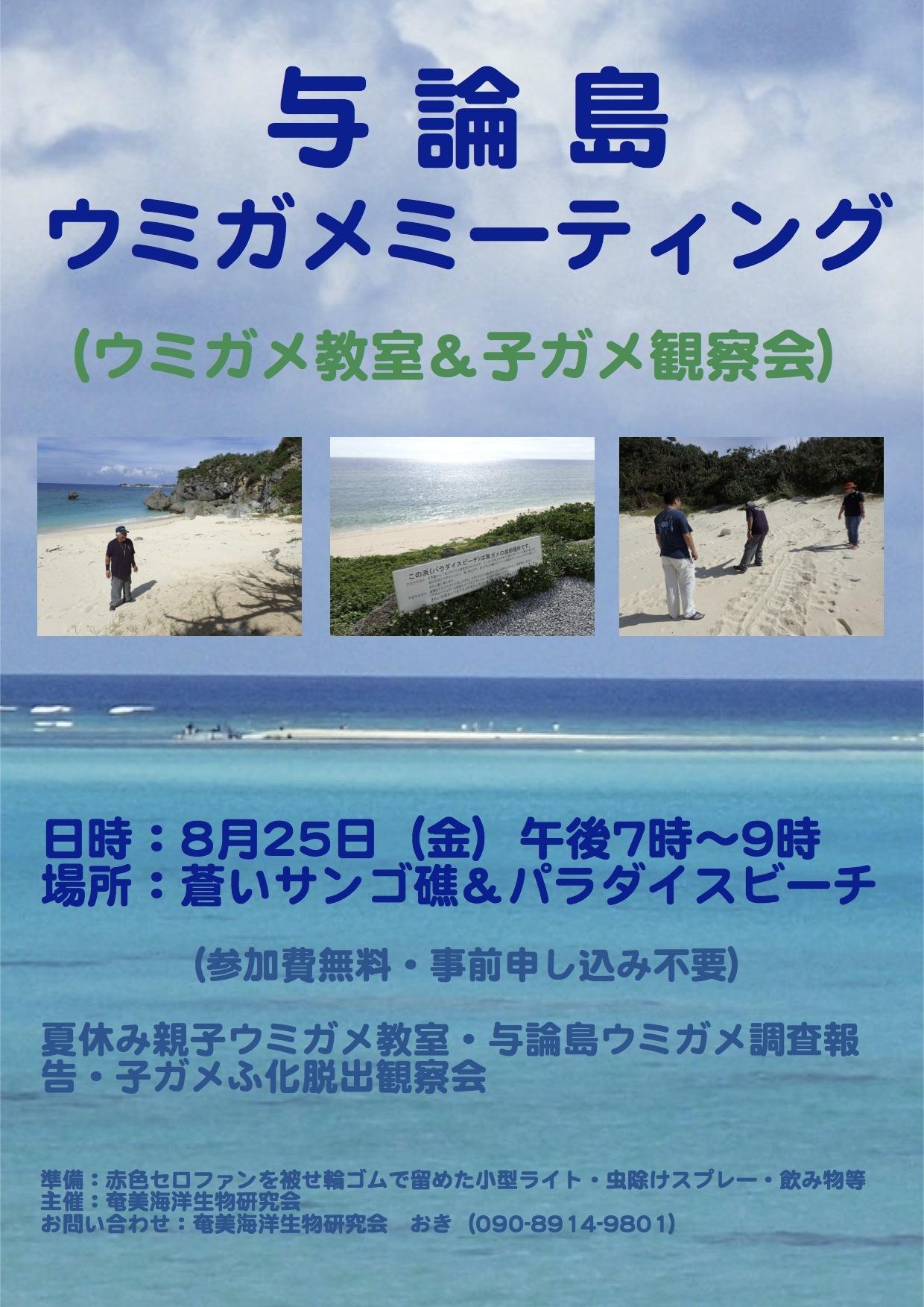 8/25 与論島ウミガメミーティング開催!_a0010095_19144181.jpg