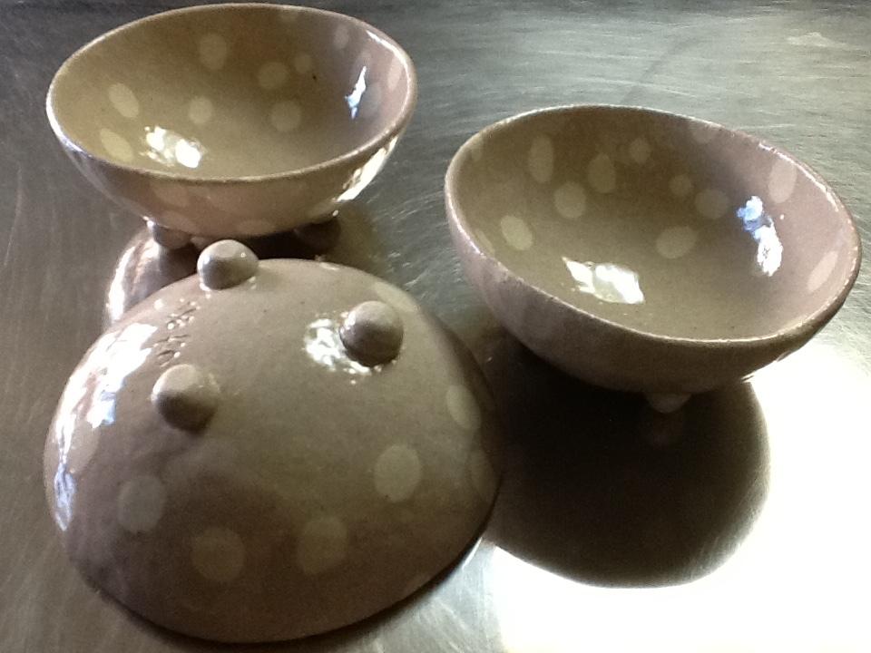 練り込み、水玉模様の小鉢完成🎵_f0151419_19230314.jpeg