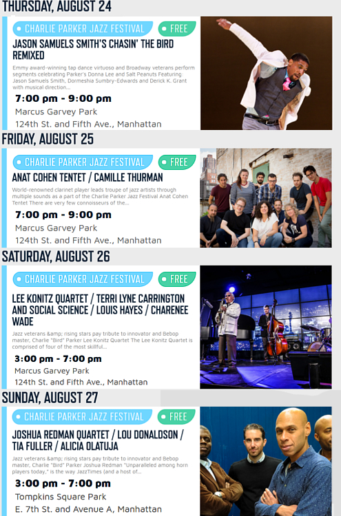 Charlie Parker Jazz Festival 2017 - 25周年を迎えたNYの無料野外ジャズ・フェスティバル_b0007805_5312961.jpg