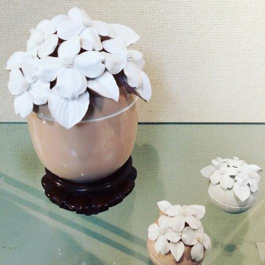 桜 花水木 百合 博多献上柄 の 美の壺_b0223370_18573451.jpg