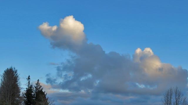 夕日と雲_e0133780_17251311.jpg