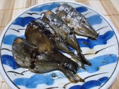 卵の袋煮&三尺ささげのごま味噌和え_f0019498_22190536.jpg