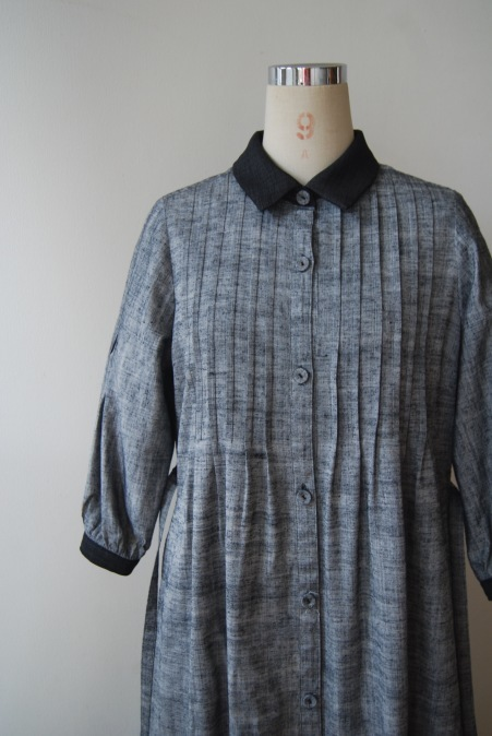 着物リメイク・紬の着物からピンタックワンピース_d0127925_21292372.jpg