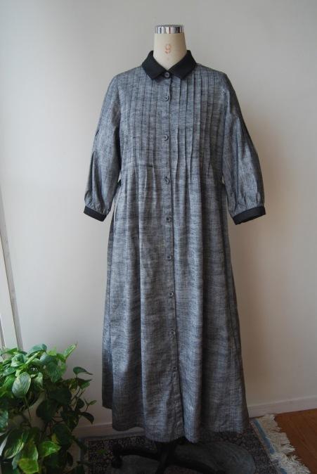 着物リメイク・紬の着物からピンタックワンピース_d0127925_21294060.jpg