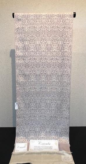 インドネシア黄金繭・クリキュラ紬小紋+岡重象唐花染め帯_f0181251_16271481.jpg