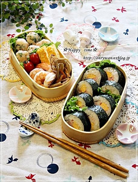 海苔巻き弁当とスライスチーズでチーズケーキ♪_f0348032_18592210.jpg