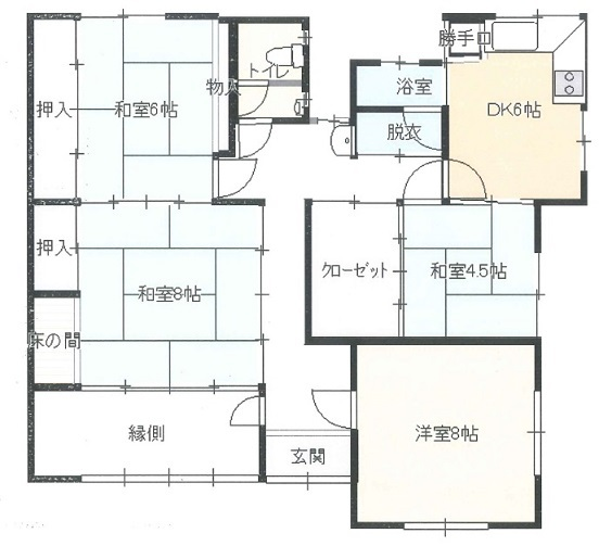 加古川市東神吉町の平屋の現況略図_f0115152_09560869.jpg