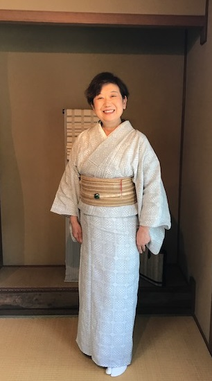 能登上布にからむしの帯、素敵な久留米絣の日傘のお客様_f0181251_1491825.jpg