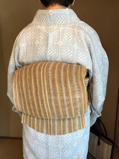 能登上布にからむしの帯、素敵な久留米絣の日傘のお客様_f0181251_1526457.jpg