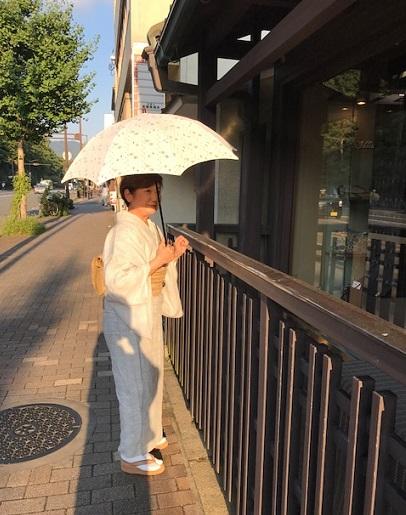 能登上布にからむしの帯、素敵な久留米絣の日傘のお客様_f0181251_15314165.jpg