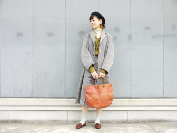 black chambray coat×autumn color_f0335217_16171539.jpg