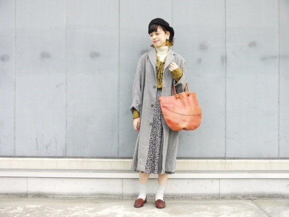 black chambray coat×autumn color_f0335217_16191871.jpg