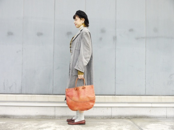 black chambray coat×autumn color_f0335217_16202319.jpg