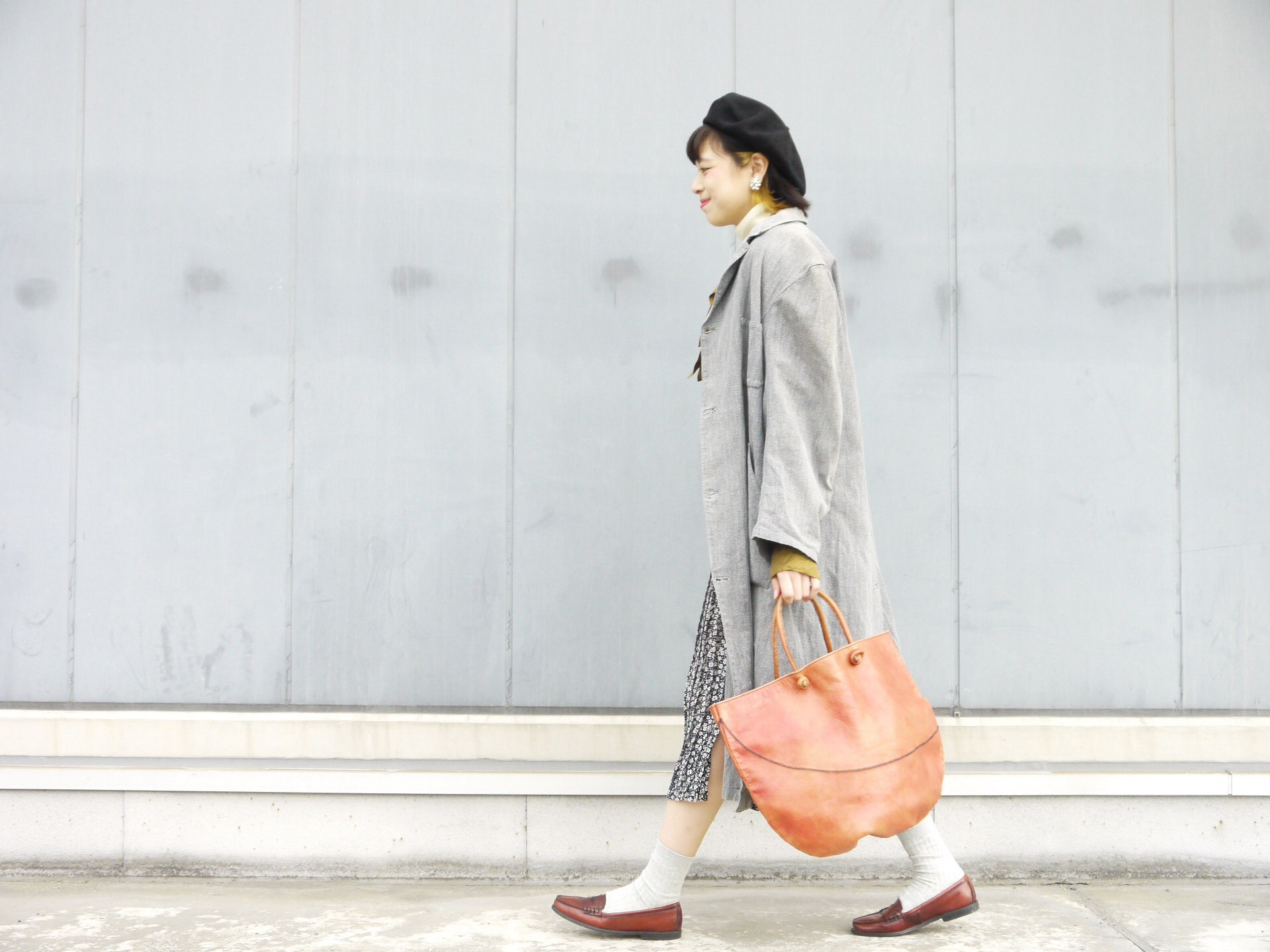 black chambray coat×autumn color_f0335217_16251945.jpg