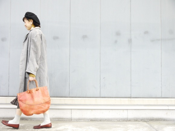 black chambray coat×autumn color_f0335217_16254832.jpg