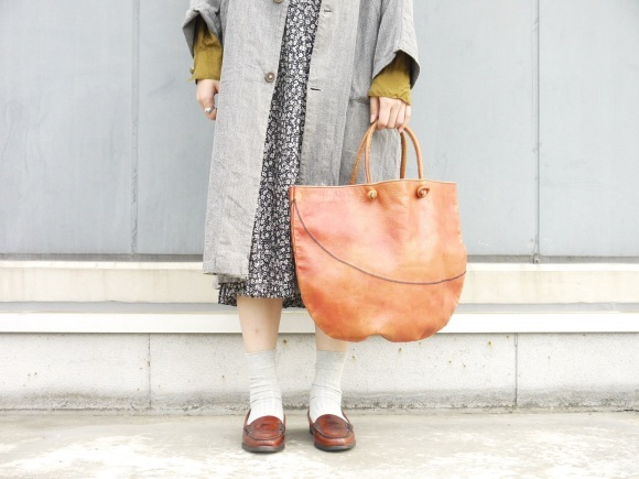 black chambray coat×autumn color_f0335217_16275217.jpg