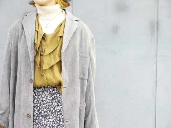 black chambray coat×autumn color_f0335217_16293243.jpg