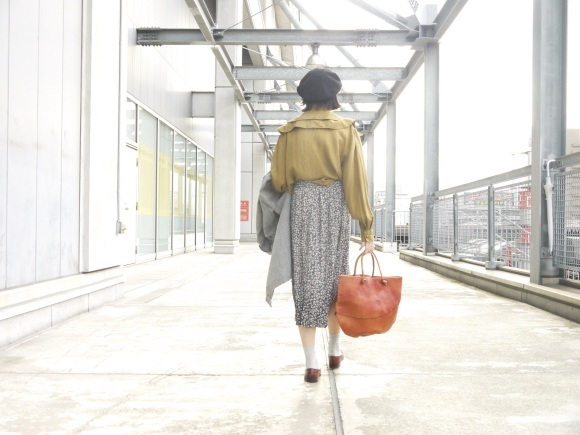 black chambray coat×autumn color_f0335217_16312065.jpg