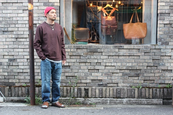 "ANACHRONORM ""WASHES DENIM WIDE JEANS\"" NM-5P01-W1 ご紹介_f0191324_09012006.jpg"