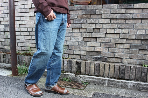 "ANACHRONORM ""WASHES DENIM WIDE JEANS\"" NM-5P01-W1 ご紹介_f0191324_09021263.jpg"