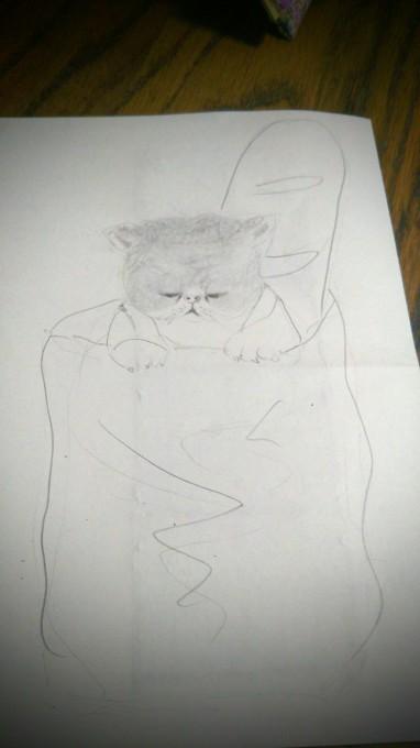 猫の装飾_b0210688_15154042.jpg