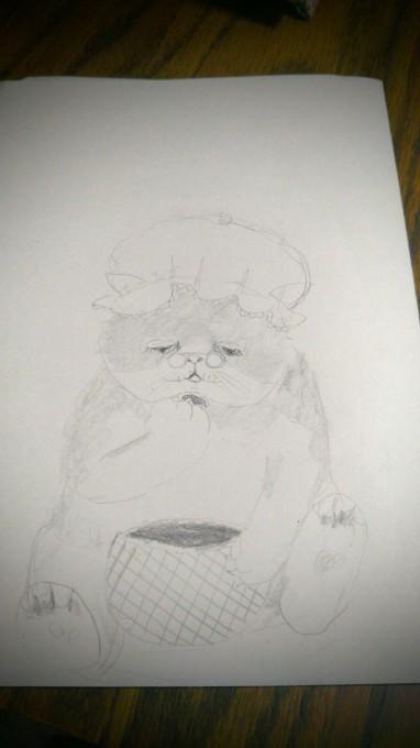 猫の装飾_b0210688_15160644.jpg