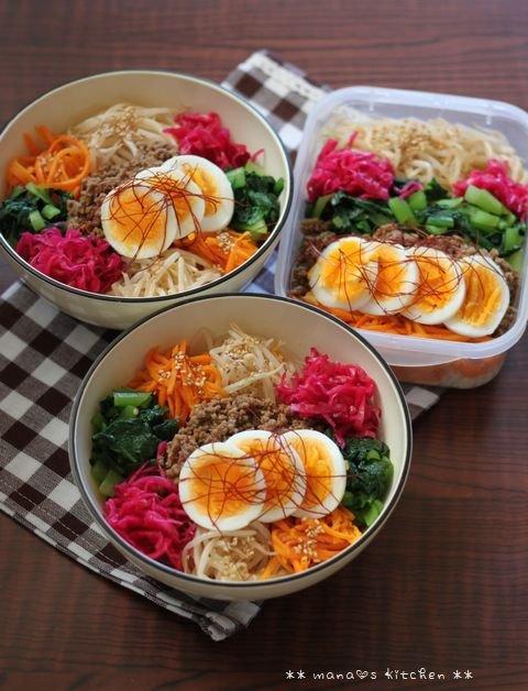 ビビンバ ✿ 焼き鳥丼(๑¯﹃¯๑)♪_c0139375_10585475.jpg