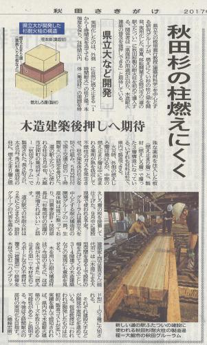 二ツ井道の駅:杉耐火柱_e0054299_13374517.jpg