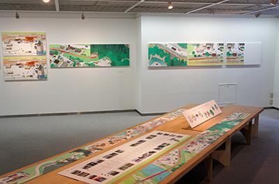 岡本雄司 絵本原画展 『れっしゃが とおります』開催中です!_f0171840_18164149.jpg