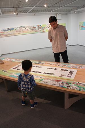 岡本雄司 絵本原画展 『れっしゃが とおります』開催中です!_f0171840_18470641.jpg