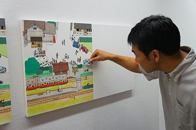 岡本雄司 絵本原画展 『れっしゃが とおります』開催中です!_f0171840_19540002.jpg