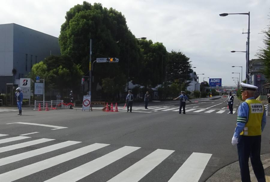 府中街道でも防災訓練に伴う交通規制_f0059673_19324071.jpg