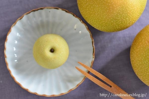 梨の練りきり  Homemade Japanese Pear Nerikiri_d0025294_20063538.jpg