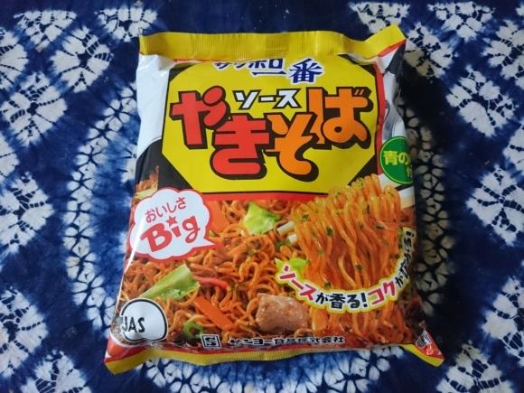 9/2 サンヨー食品サッポロ一番ソースやきそば + オリジナル納豆丼_b0042308_12291356.jpg