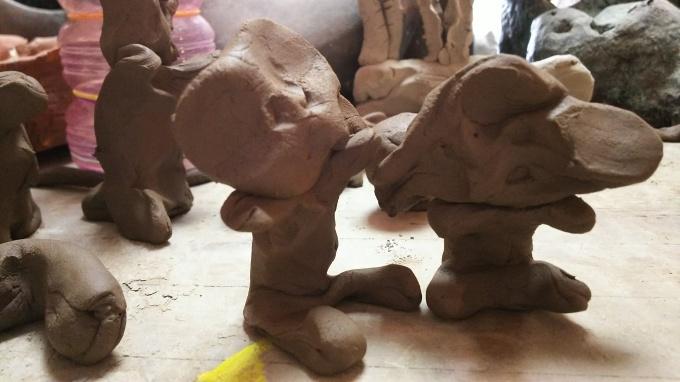 9月の陶芸教室♪とはげたかのアップリケ♪_f0374160_22063817.jpg