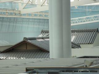 羽田空港 江戸小路の屋根2_c0223192_22452133.jpg