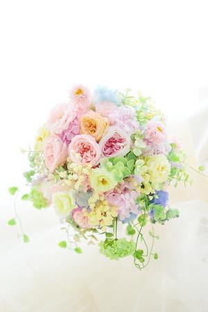 プリザーブドブーケと花冠をリメイクに_a0042928_19470391.jpg