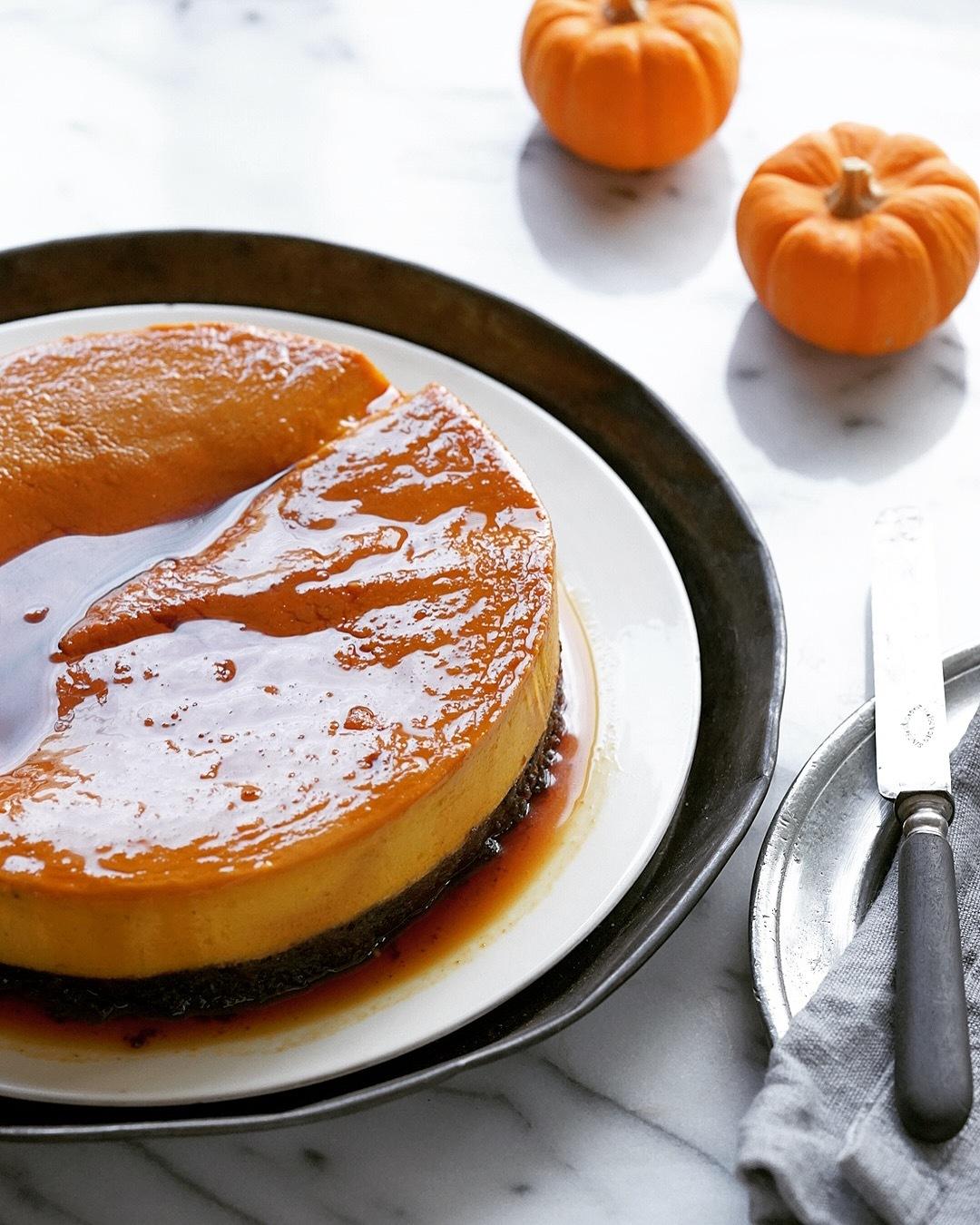 【10月おかし教室のお知らせ】二層のプリンケーキとパンプキンマフィン_b0228252_15242108.jpg