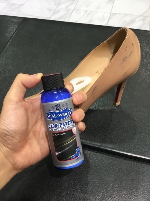 ルブタン エナメル靴のお手入れ_b0226322_14054217.jpg