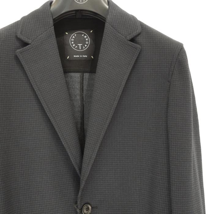 T-JACKET ティー・ジャケット マイクロハウンドトゥースジャージジャケット ネイビー_c0118375_15421214.jpeg
