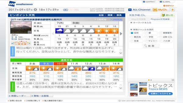 週末の天気と気温(9月2週目)_b0174425_18225042.png