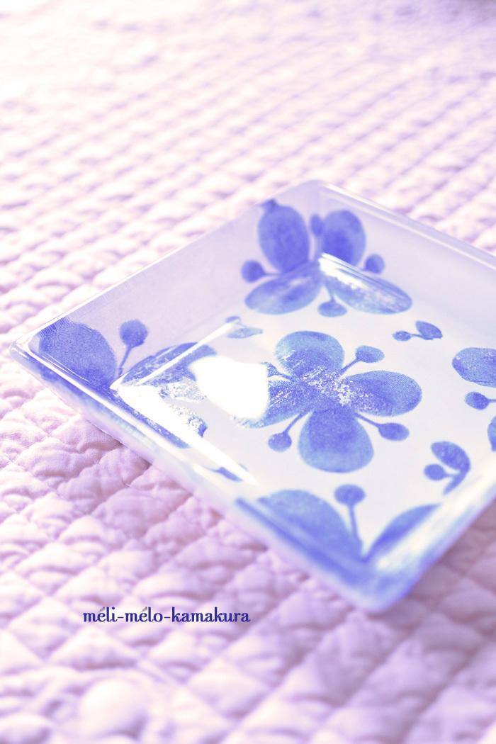 ◆【レッスンレポート】シルバーレースと北欧柄のガラスミニプレート♪_f0251032_15154596.jpg