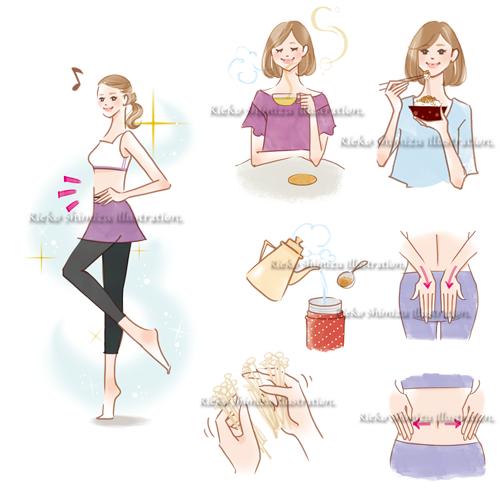 情報誌わたし日和ダイエットイラスト 女性誌を中心に活動する