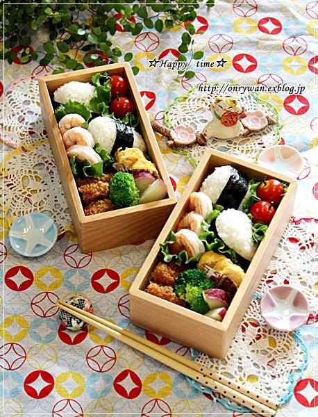 おむすび弁当と我が家の庭から♪_f0348032_18093607.jpg