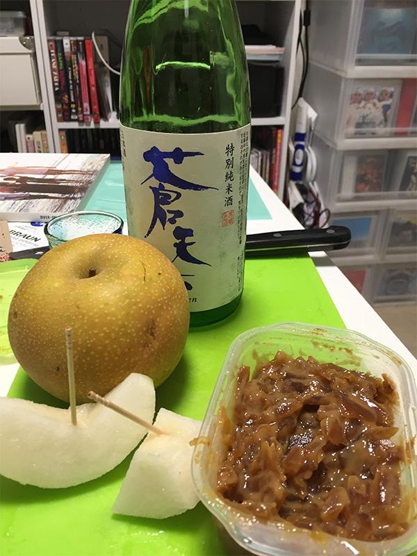 梨と奈良漬と日本酒と_c0193735_6364894.jpg