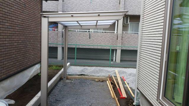 9/6 外構工事(宇都宮市・サイクルポート組み立て)_c0313938_16583292.jpg