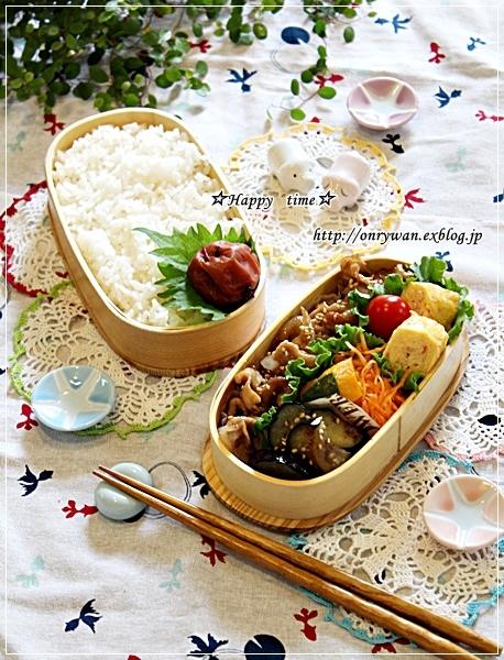 豚の生姜焼き弁当ときのこたっぷり炊き込みご飯♪_f0348032_18372528.jpg